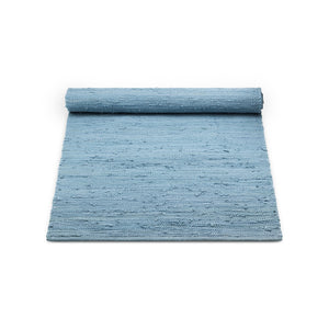 Gulvtæppe - cotton rug - eternity blue