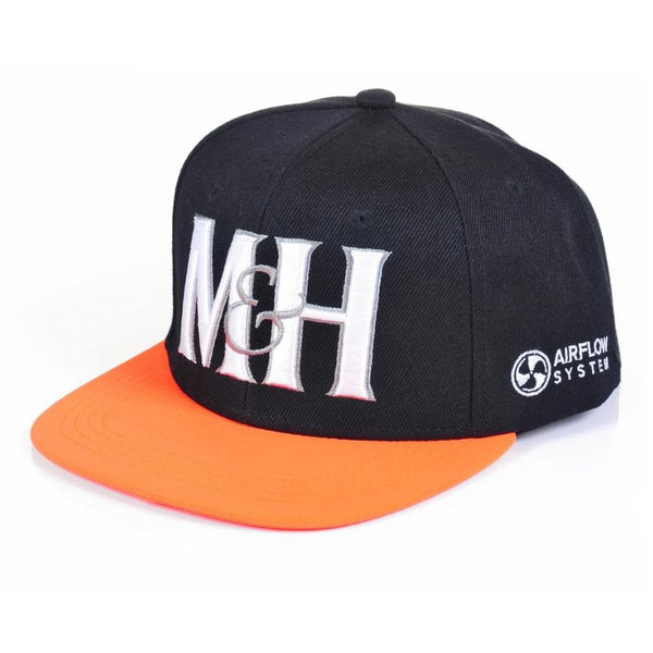 Snapback Cap Orange Accessories Millichamp and Hall