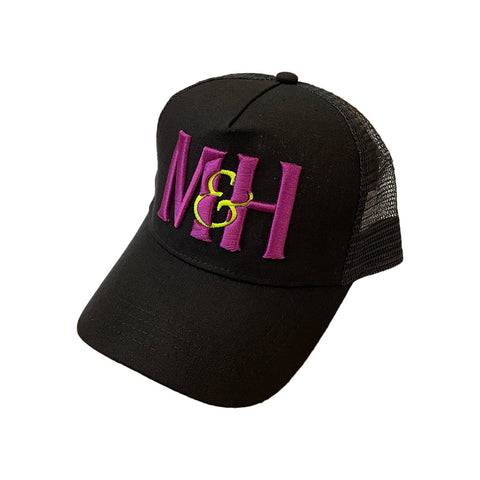 NEW: Purple Fabric Fronted Trucker Cap