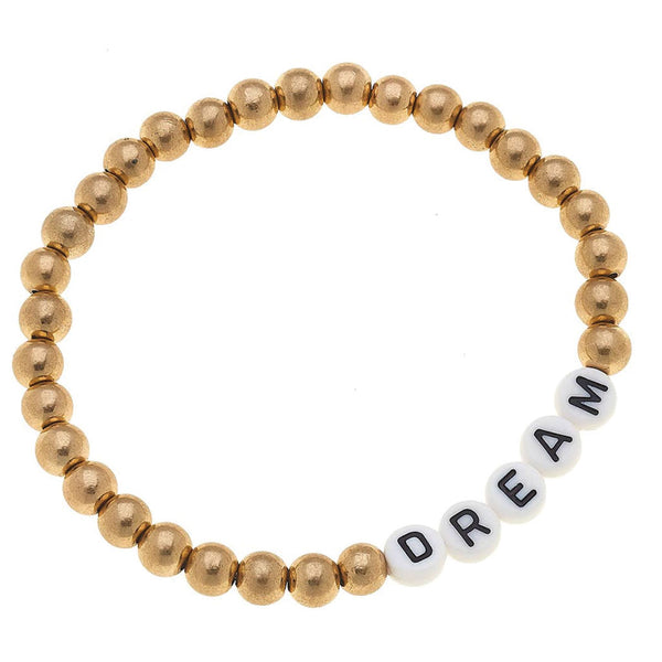 Dream Block Letter Bracelet