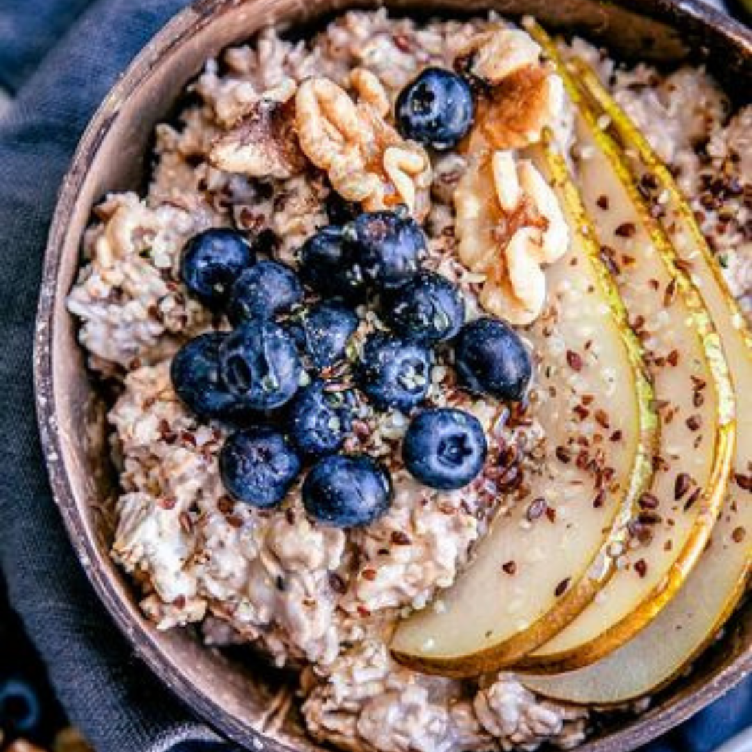 Smashed-Banana Overnight Oats