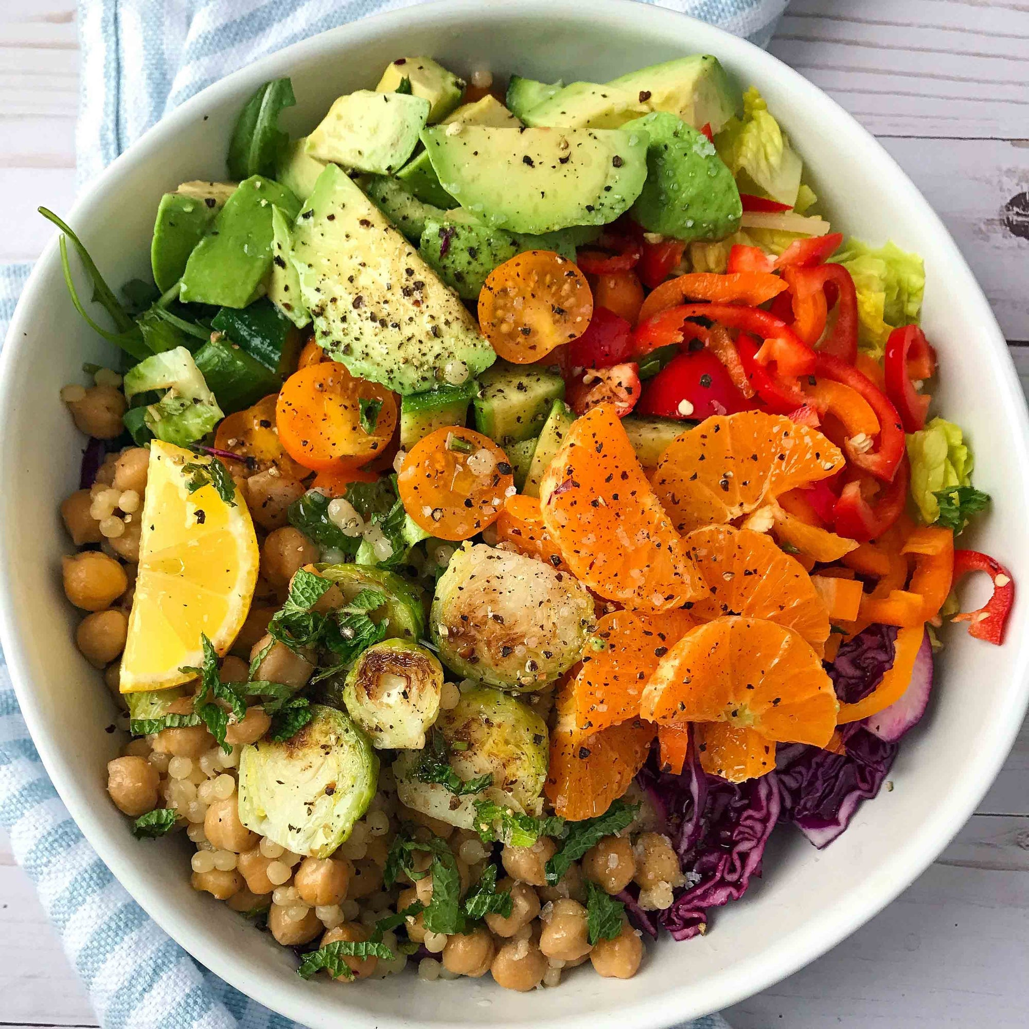 Warm Chickpea and Couscous Salad