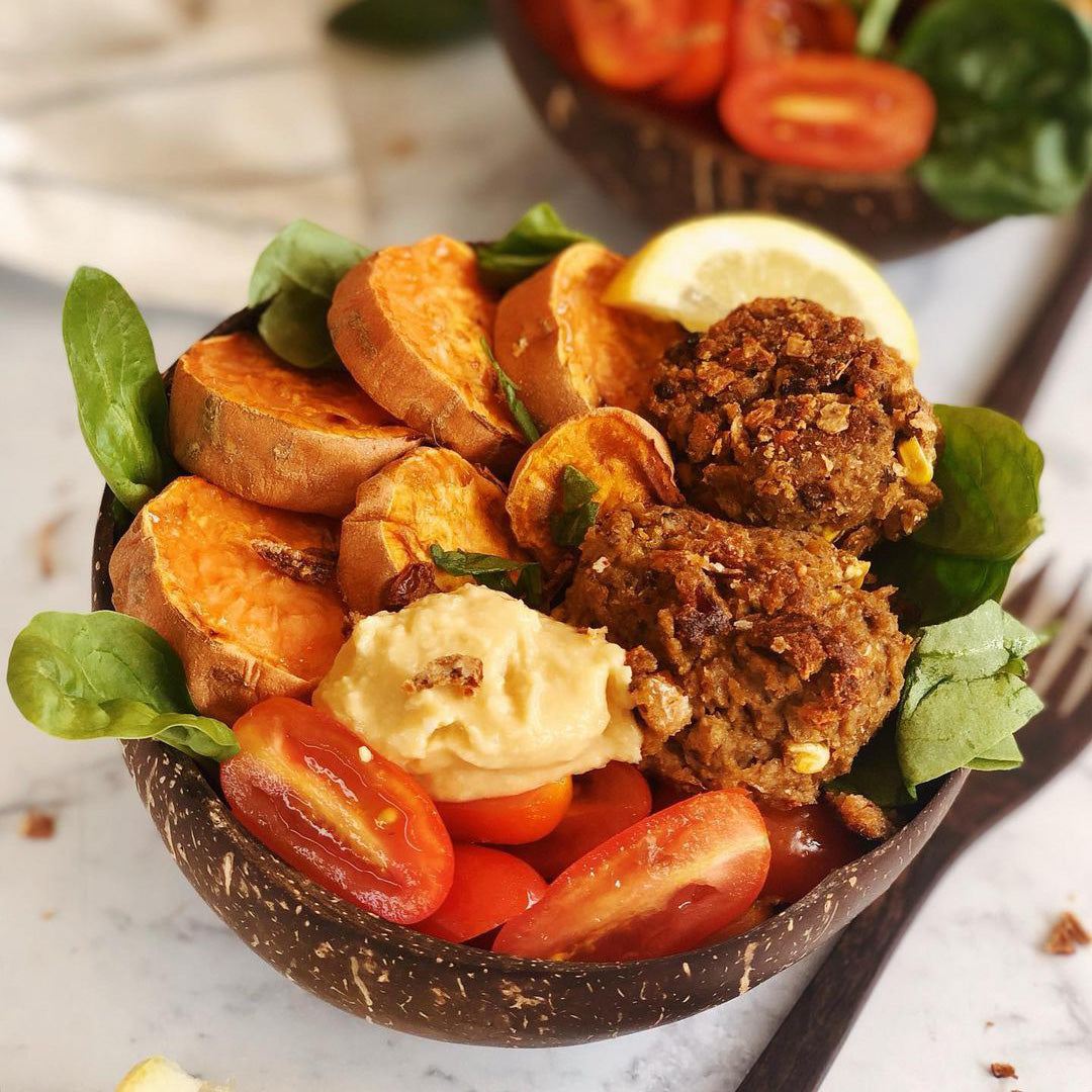 Nourish Bowls with Plant-based Patties