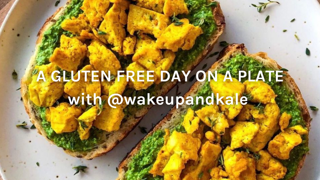 A Gluten Free Day On A Plate with Wake Up and Kale