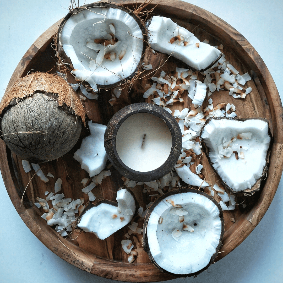 Toasted Coconut Candle by Coconut Bowls