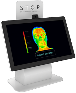 Temperature Scanning Desktop Kiosk