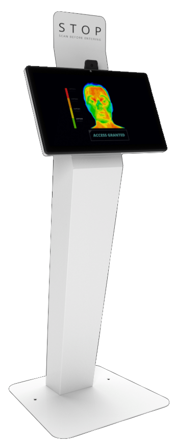 Temperature Scanning Floorstand Kiosk