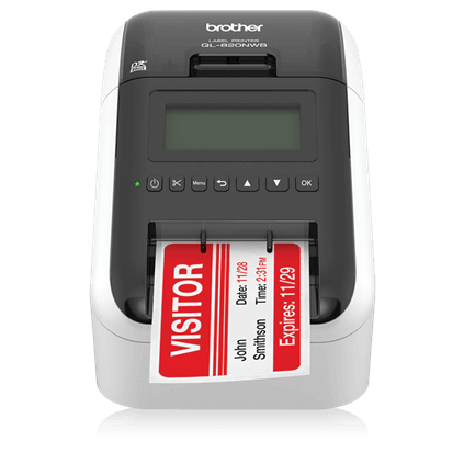 Brother QL-820NWB for visitor management system