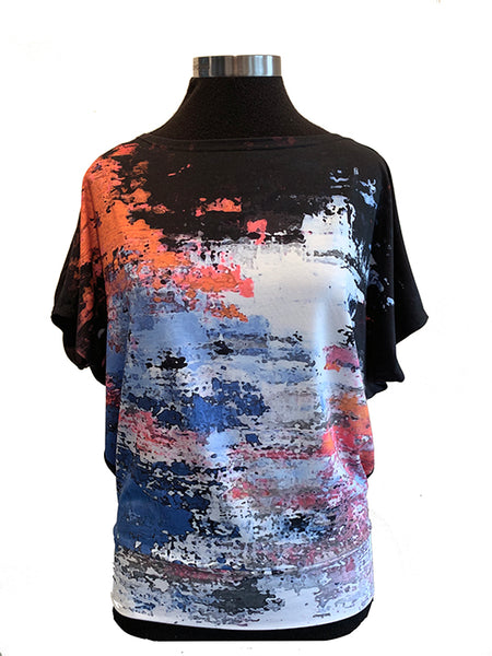 Around the World Dolman Sleeve Top - Creo Artistic Wear Official