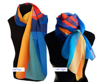 SIX PLUS...ORDERS -  100% Silk Scarves in Chiffon - Creo Wear Couture
