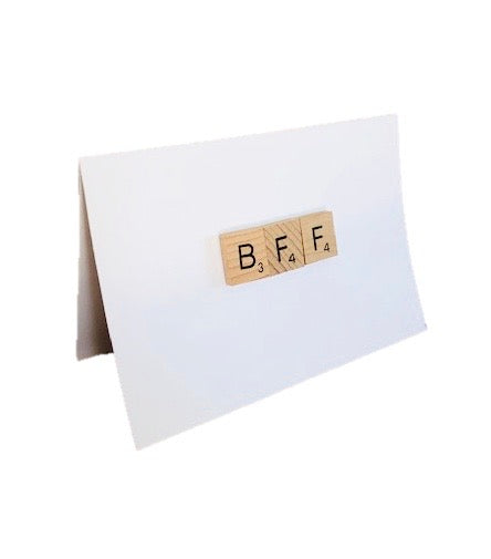 BFF Scrabble Tile Card