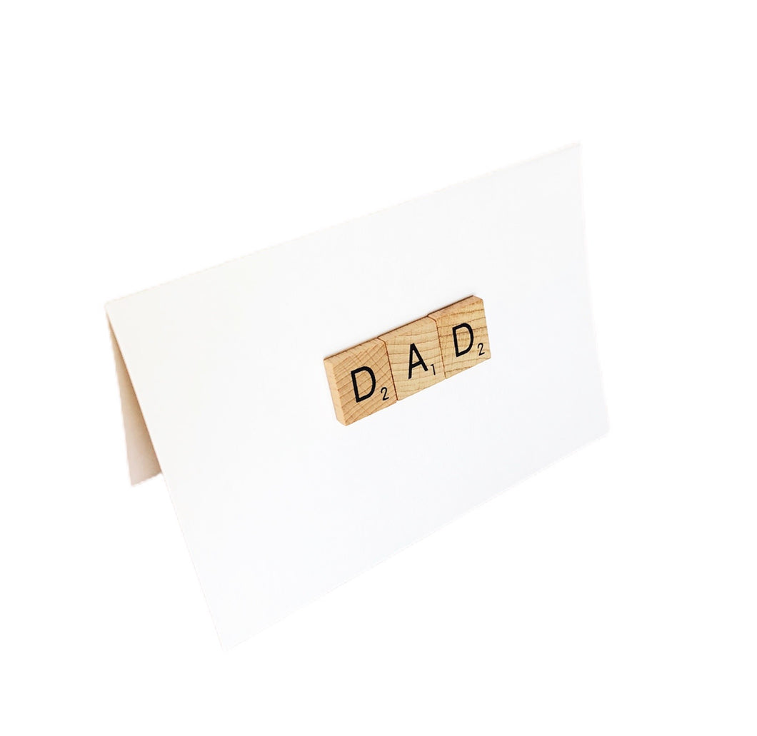 Dad Scrabble Tile Card