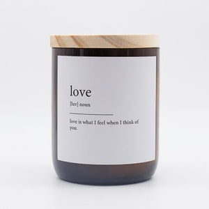 Love dictionary meaning soy candle 250g