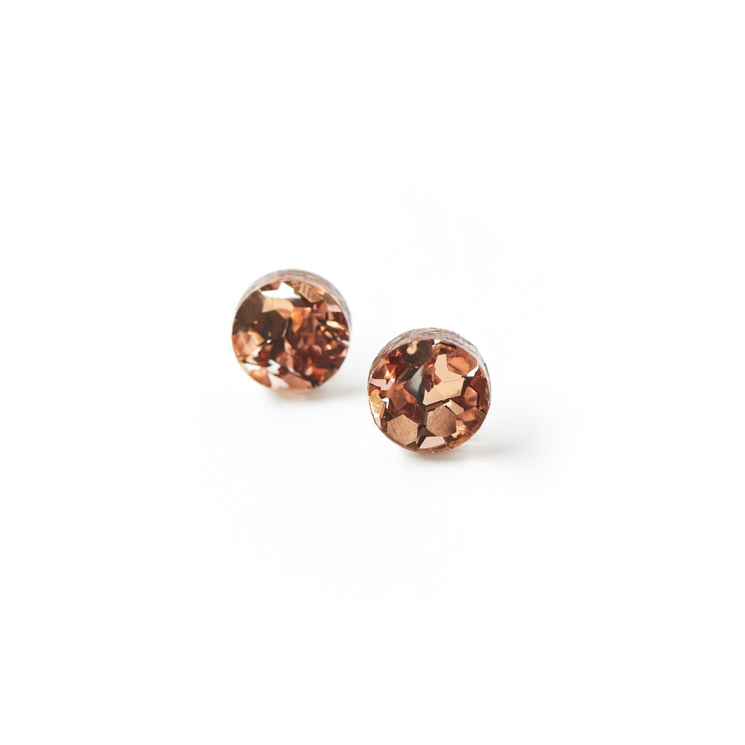 Martha Jean circular stud earrings -Dusty Pink