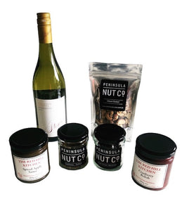 Nuts and Chardonnay Gift Box (alcoholic)