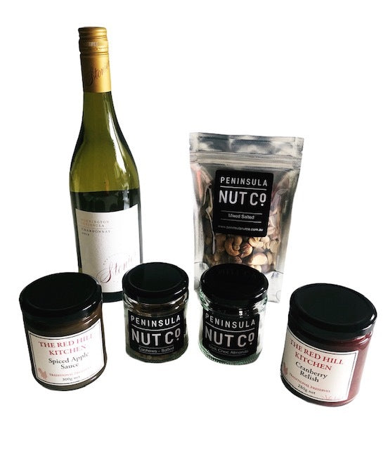 Nuts and Chardonnay Gift Box - Free Postage