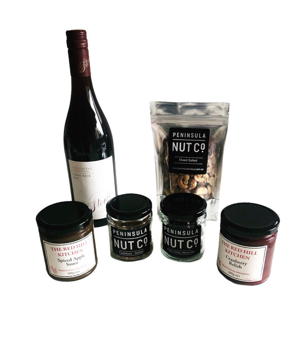 Nuts and Pinot Gift Box - Free Postage