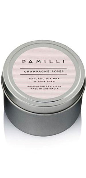 Pamilli Candle in a Tin Champagne Roses