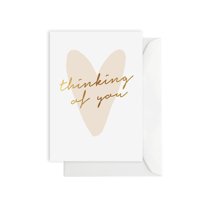 Thinking of You Card - Gold Foil Stamped