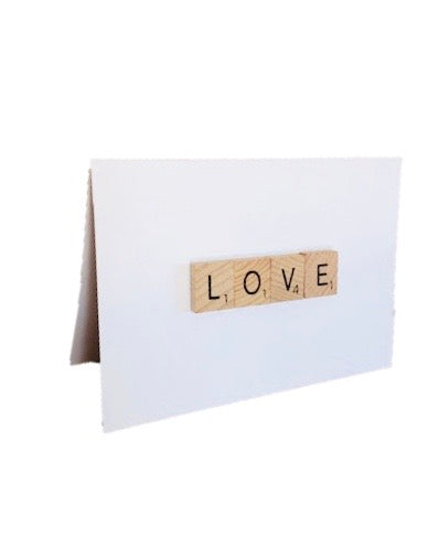 Love Scrabble Tile Card