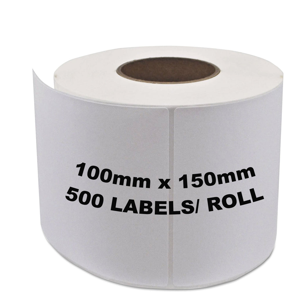 Zebra & ALL Direct Thermal Printer Compatible Labels 100mm x 150mm 500 Labels/Roll