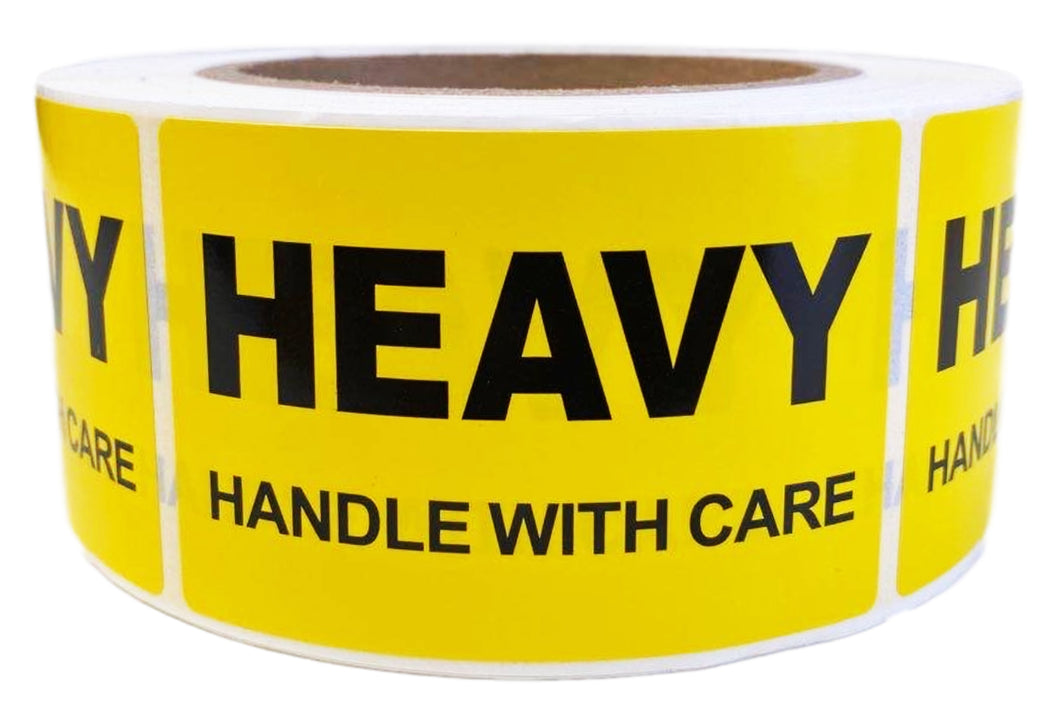 Heavy Printed Label 50.8x76.2mm Handle With Care Adhesive Sticker 550 Labels/Roll