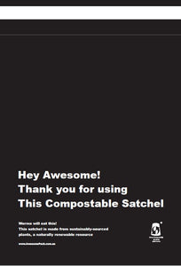 COMPOSTABLE SATCHELS 165mm x 235mm [Courier Bags] [Mailing Satchels]
