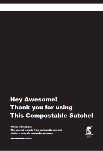 COMPOSTABLE SATCHELS A4 Size 255mm x 325mm [Courier Bags] [Mailing Satchels]