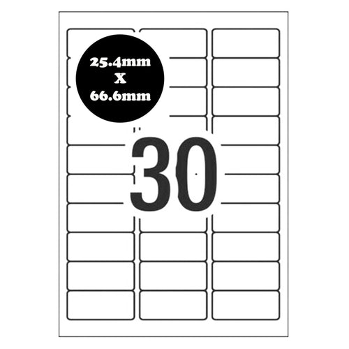 US Letter Size Self Adhesive Address Labels [Compatible with Amazon FBA Labels] for Laser Inkjet Printers Mailing Sticker [30 Per Page]