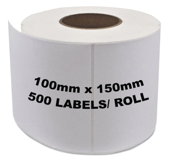 Couriers Please Shipping Labels 100x150mm 500 Labels/Roll [For Zebra Direct Thermal Desktop Printers]