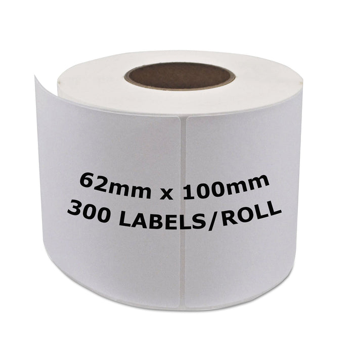 BROTHER Compatible Labels 62mm x 100mm 300 Labels/Roll [DK11202]