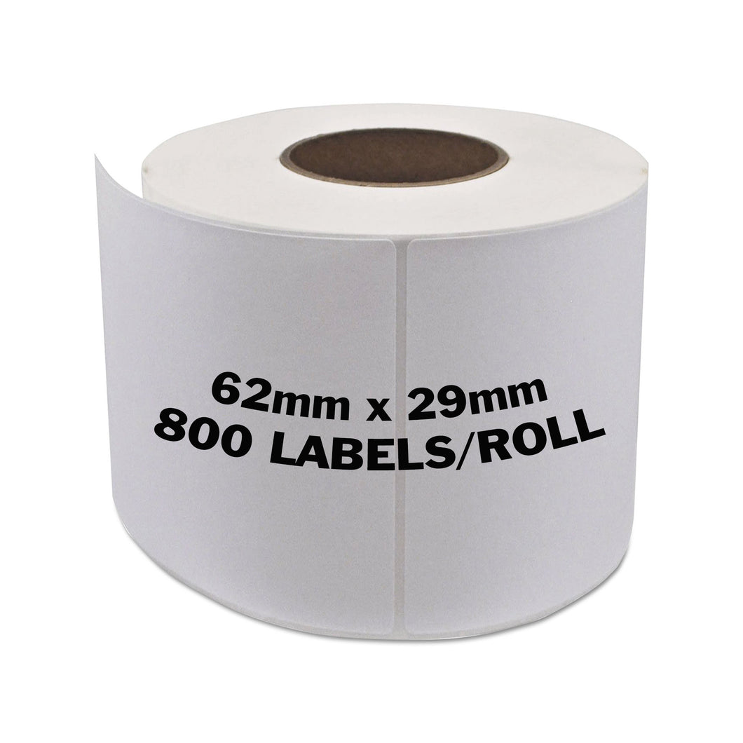 BROTHER Compatible Labels 62mm x 29mm 800 Labels/Roll [DK11209]