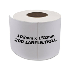BROTHER Compatible Labels 102mm x 152mm 200 Labels/Roll [DK11241]