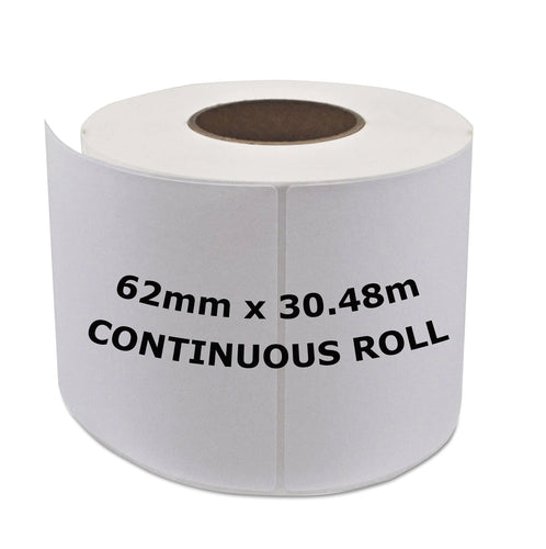 BROTHER Compatible Labels 62mm x 30.48m Continuous Roll [DK22205]