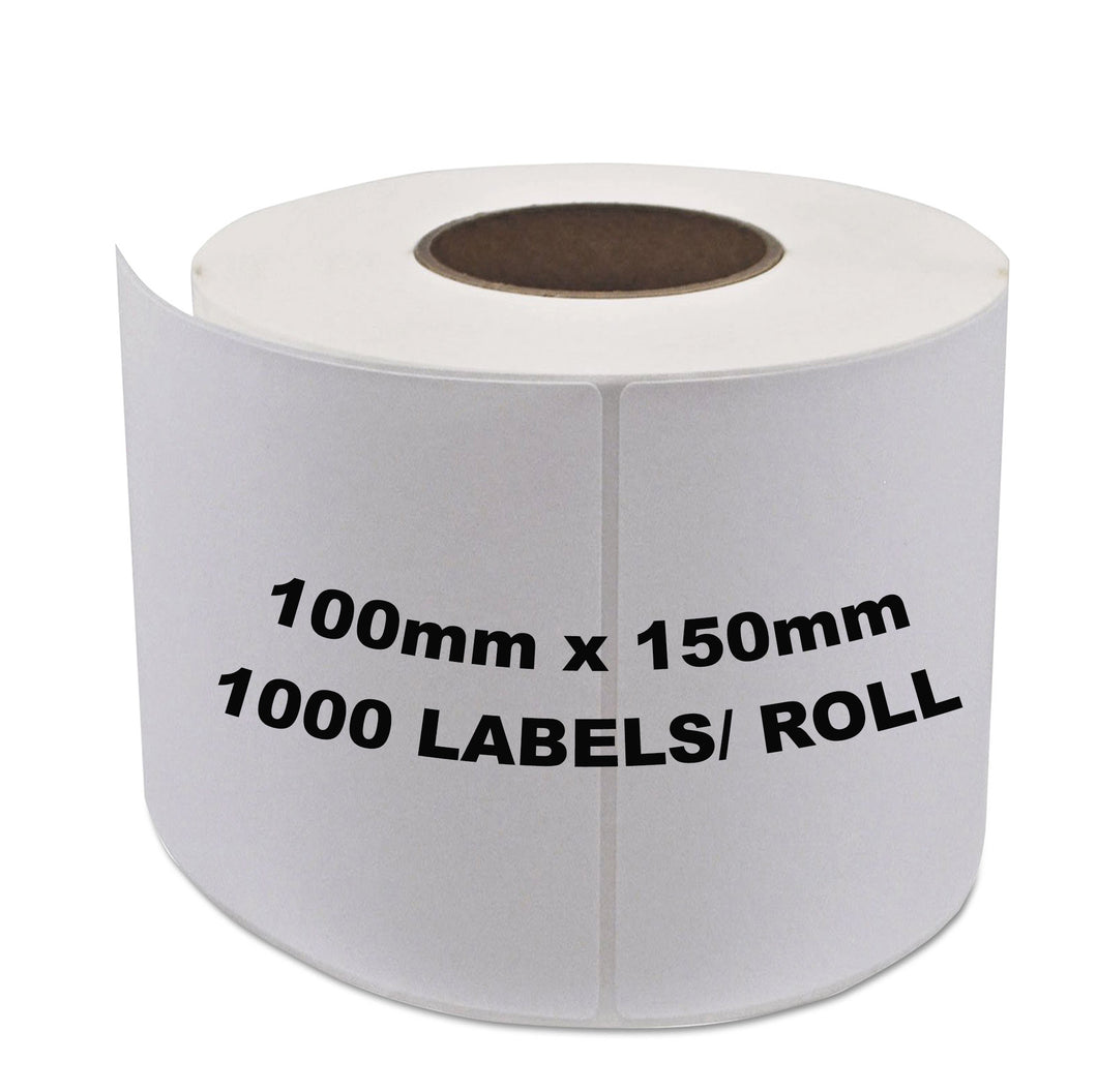 ZEBRA & ALL Direct Thermal Printer Compatible Labels 100mm x 150mm 1000 Labels/Roll