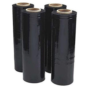 Black Hand Stretch Film Pallet Shrink Wrap [500mm x 400m]