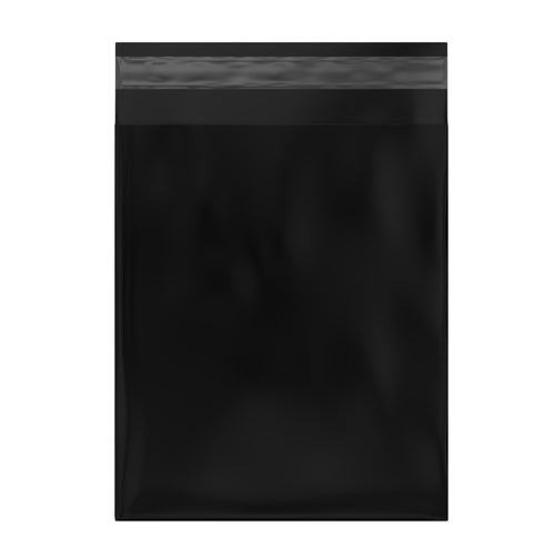 Black Courier Bags 430mm x 545mm [Poly Mailers] [Mailing Satchels]