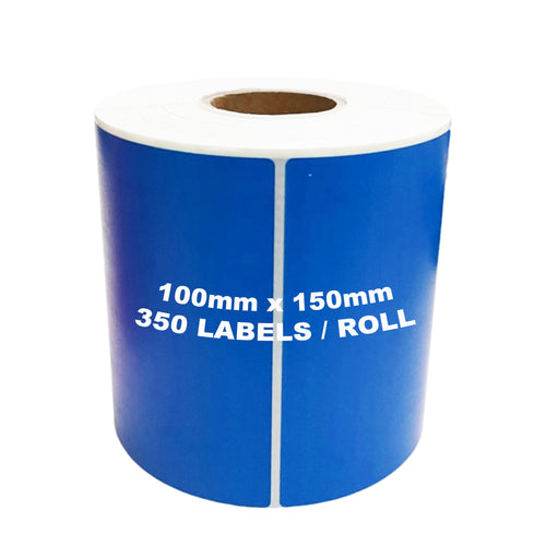 ZEBRA & ALL Direct Thermal Printer Compatible BLUE Labels 100mm x 150mm 350 Labels/Roll