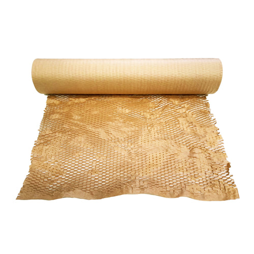 HoneyComb Kraft Paper Wrap Roll 500mm x 90m Protective Packaging [Bubble Wrap Alternative]