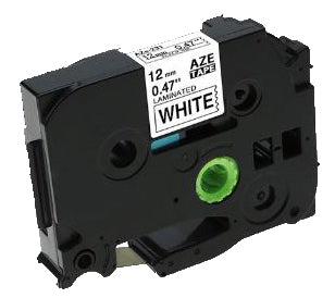 Brother Compatible TZe-231 Label Tape [12mm x 8m] [Black on White]