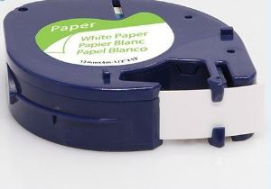 Dymo Compatible 91200 Label Tape [12mm x 4m] [Black on White]