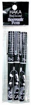 PK-40073 - 3 Pack Haka Pens Black - New Zealand Gifts & Souvenirs