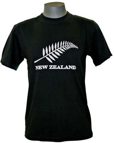 PK-75449 - Adults T-Shirt and Cap Combo Black - New Zealand Gifts & Souvenirs