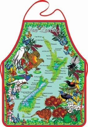 PK-65095 - Apron Red Border - New Zealand Gifts & Souvenirs