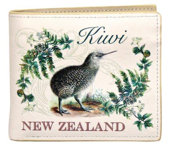 PK-00561 - Bags and Wallets Boxed Wallet Vintage Kiwi - New Zealand Gifts & Souvenirs