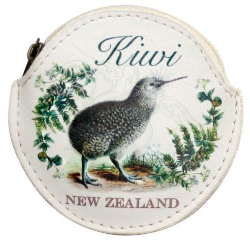 PK-00555 - Bags and Wallets Coin Bag Round Vintage Kiwi - New Zealand Gifts & Souvenirs