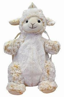 PK-00368 - Bags and Wallets Curly Cream Back Pack Sheep - New Zealand Gifts & Souvenirs