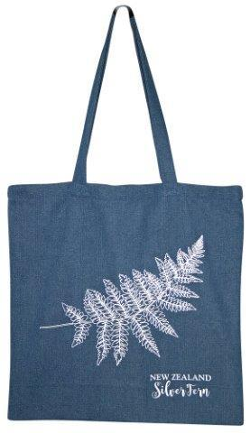 PK-00498 - Bags and Wallets Denim Bag Silver Fern - New Zealand Gifts & Souvenirs