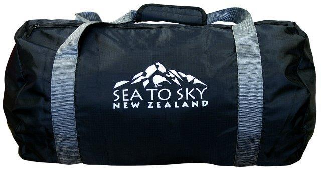 PK-00464 - Bags and Wallets Foldable Travel Bag Black - New Zealand Gifts & Souvenirs