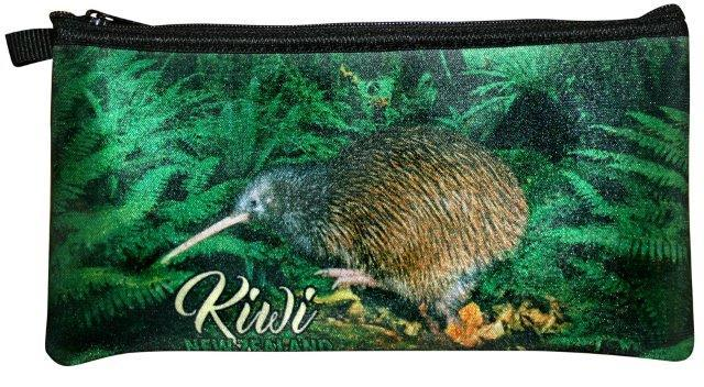 PK-00259 - Bags and Wallets Pencil Case Native Kiwi - New Zealand Gifts & Souvenirs